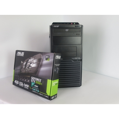 Acer Veriton M2610 4x ядерный CORE I5 2400 3.4GHz 8GB RAM 500GB HDD 120GB SSD+ новая GeForce GTX1050Ti 4GB