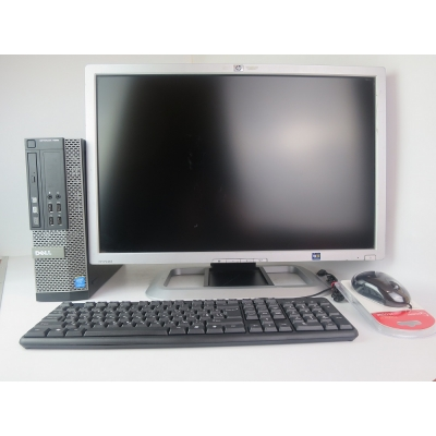 "DELL 7020 SFF Core i3 4150 3.5GHz 4GB DDR3 500GB HDD + 24"" HP LP2465"