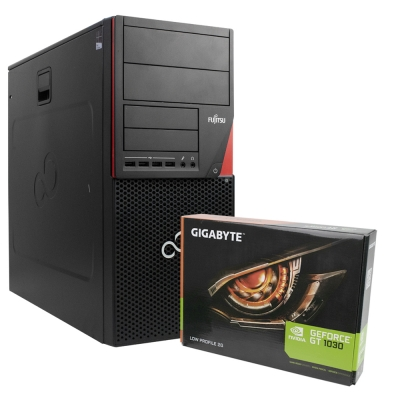 Системный блок Fujitsu P720 4х ядерный Core i5-4440 3.3GHz RAM 8GB 250GB HDD + Новая GeForce GT1030 2GB