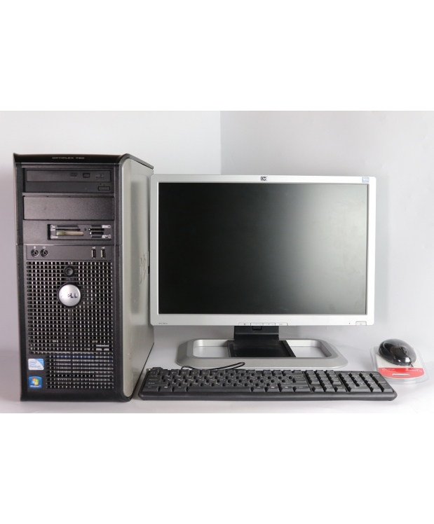 DELL 780 Core 2 Duo E8400 3.0GHZ 4GB RAM 80GB HDD + 20 HP L2045w