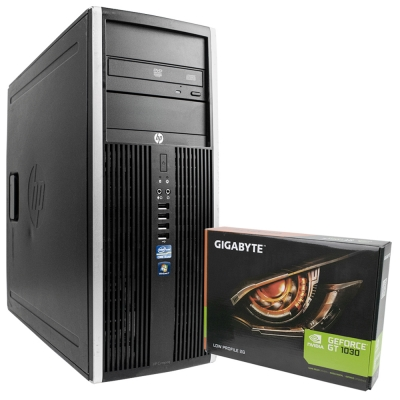 HP COMPAQ ELITE 8300 MT Core I3 3220 8GB RAM 320GB HDD + Новая GeForce GT1030 2GB