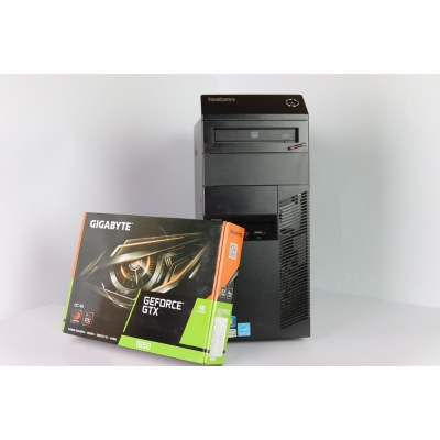 Lenovo M82 Tower Intel Core i5 3350P 8Gb RAM 320Gb HDD 120GB SSD + новая GTX1650 4GB