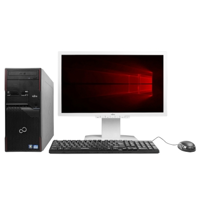 Системный блок Fujitsu Celsius W420 Intel Pentium G2020 4GB RAM 500GB HDD + Монитор Fujitsu B23T-6