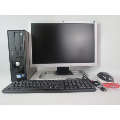 "Dell Optiplex 380 (780 ) 3.0GHZ 4GB RAM 160GB HDD + 20"" HP L2045w TN"