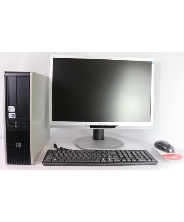 Комплект  Системный блок HP Compaq dc7900 SFF Core 2Duo E8400 4GB RAM 160GB HDD + Монитор 22
