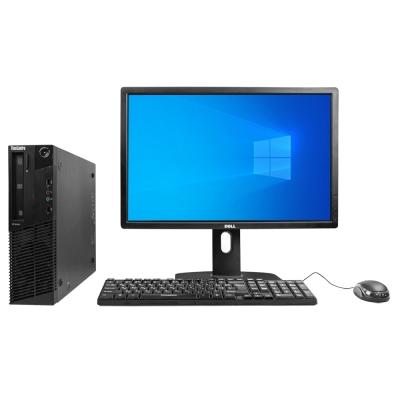 Системный блок Lenovo ThinkCentre M91p SFF CORE I5 2400 8GB RAM 120GB SSD + Монитор Dell U2412