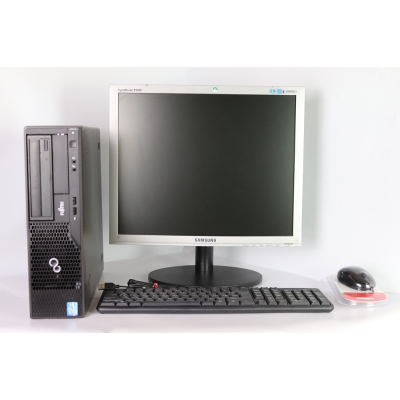"FUJITSU E500 4x ЯДЕРНЫЙ CORE I5-2500 4GB RAM 320 GB HDD + 19"" Монитор TFT"