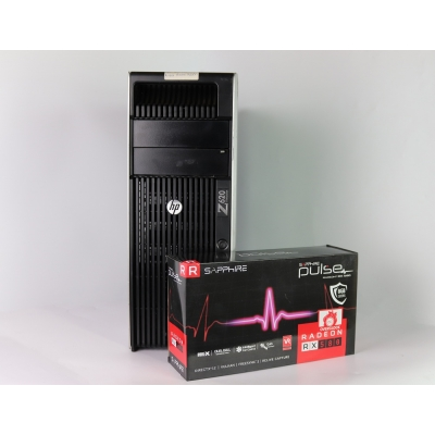 HP Z620 WorkStation 4x Ядерный Intel Xeon E5-2609  32GB RAM 500GB HDD 240GB SSD + Radeon RX 580 8GB