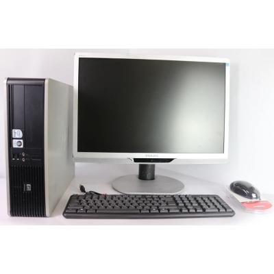 """Комплект  Системный блок HP Compaq dc7900 SFF Core 2Duo E8400 4GB RAM 160GB HDD + Монитор 22"""""""