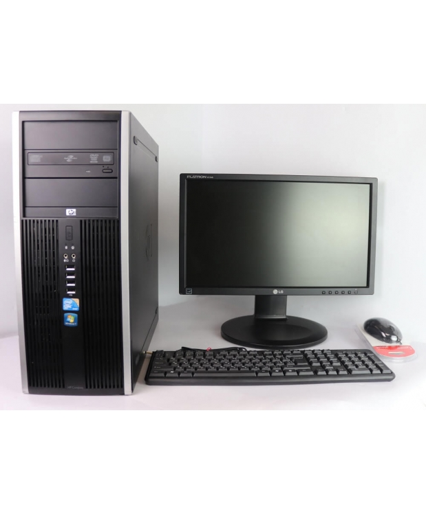 HP 8000 Tower E8400 3GHz 8GB RAM 80GB HDD + 19 Широкоформатный TFT