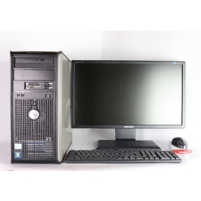 "DELL 780 Core 2 Duo E8400 3.0GHZ 4GB RAM 160GB HDD + 23"" Samsung 2343NW 2K"