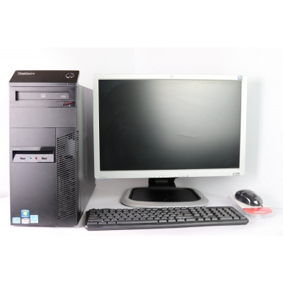 "Lenovo M82 Tower Intel Core i5 3470 4Gb RAM 320Gb HDD + 20"" HP L2045w TN"