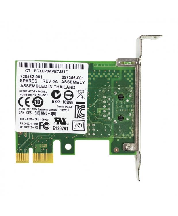 Сетевой контроллер HP-728562-001 PCI-E Intel Pro 100/1000  Low Profile фото_1