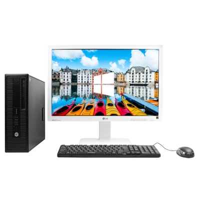 "HP 800 G1 SFF 4x ЯДЕРНЫЙ CORE I5 4570 8GB DDR3 500GB HDD + 24"" Монитор"