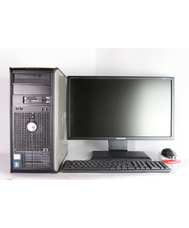 DELL 780 Core 2 Duo E8400 3.0GHZ 4GB RAM 160GB HDD + 23 Samsung 2343NW 2K