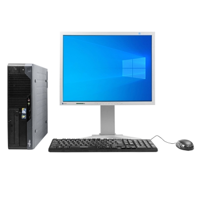 Системный блок Fujitsu E5731 Intel Core2 Duo E8400 8GB RAM 160GB HDD + Монитор EIZO FLEXSCAN S2100