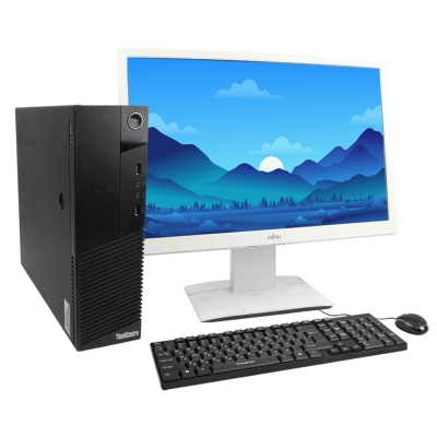 "Системный блок ThinkCentre M83 SFF 4х ядерный Core i5 4430S 8GB RAM 500GB HDD + 24"" Монитор"