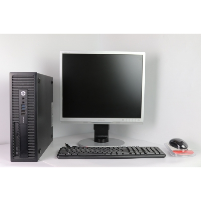 "HP 800 G1 SFF 4x ЯДЕРНЫЙ CORE I5 4570 8GB DDR3 500GB HDD + 19"" Монитор TFT"