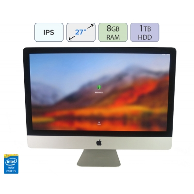 "27"" Моноблок Apple IMac A1312 Core I5 2500S 8GB RAM 1TB HDD"